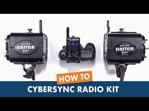 How to pair CyberSync Radio Kit to Einstein Studio Flash