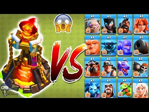 Max Inferno Tower vs All Troops - Clash of Clans