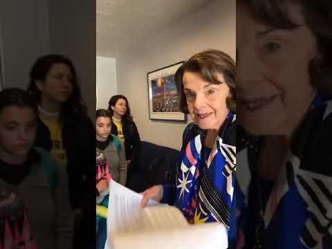 Full Senator Dianne Feinstein/Sunrise Movement Video
