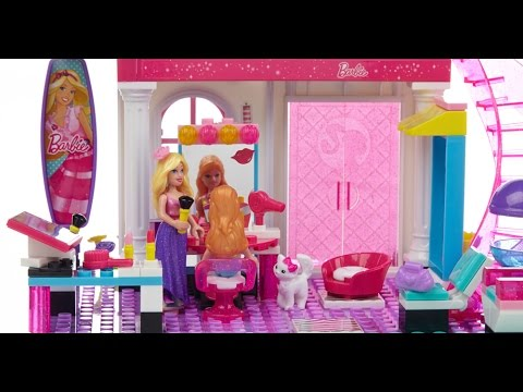 barbie build your own beauty salon lego toy unboxing  youtube