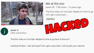 the oldest YouTube video was RUINED... (hacked)