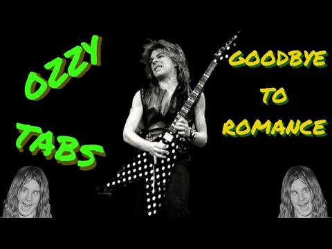 Goodbye to Romance Ozzy Chord/Melody Cover