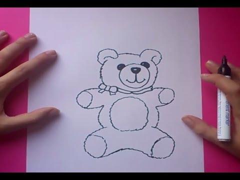 Como dibujar un oso de peluche paso a paso 6  How to draw a teddy