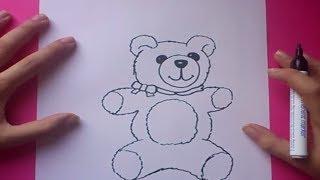 Como dibujar un oso de peluche paso a paso 6 | How to draw a teddy bear 6