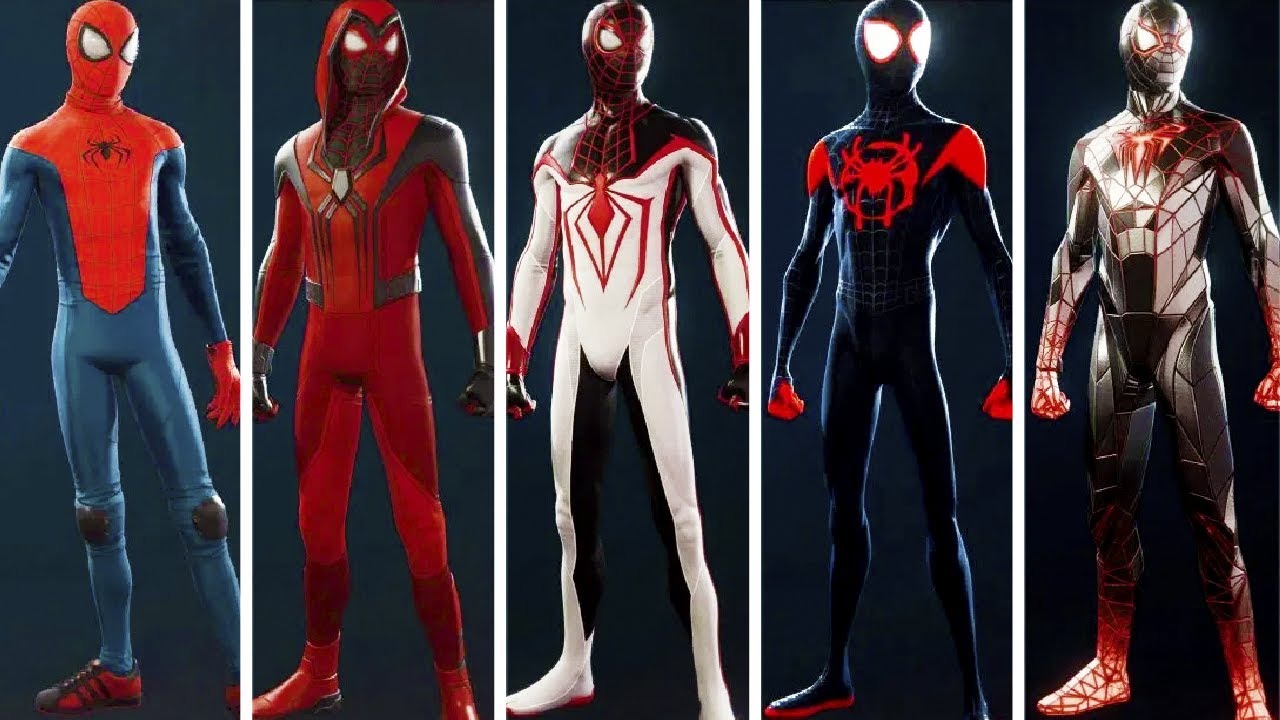 All Suits in Spider-Man Miles Morales