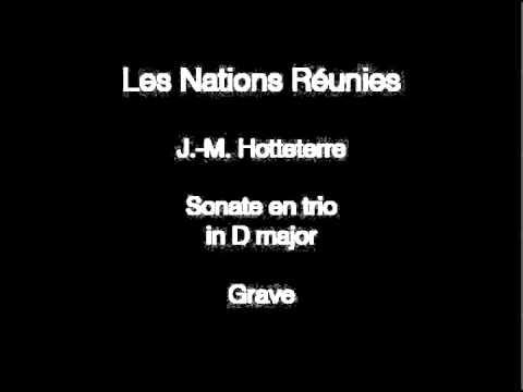 Les Nations Réunies: J.-M. Hotteterre, Grave