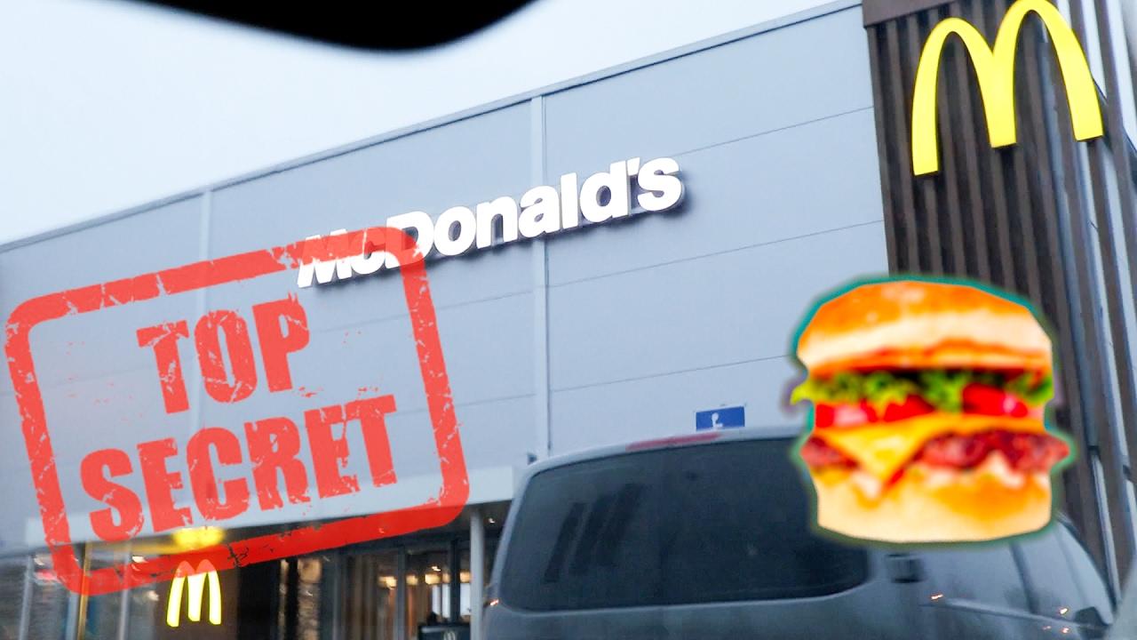 eating mcdonalds secret burger  youtube