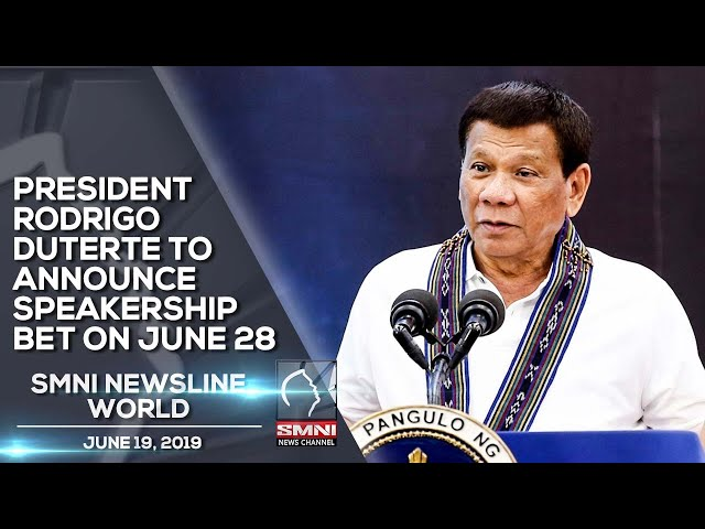 PRESIDENT RODRIGO DUTERTE TO ANNOUNCE SPEAKERSHIP BET ON JUNE 28
