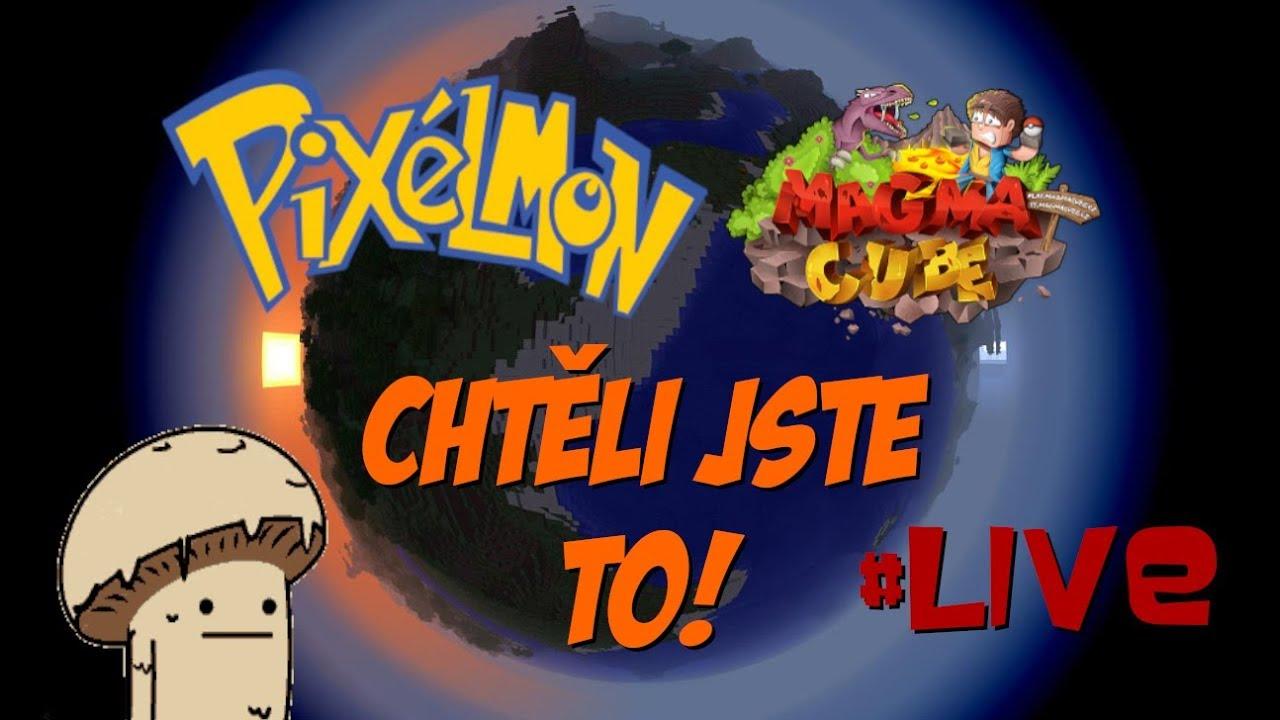 CHTĚLI JSTE TO! 🍄🍄 PIXELMON MAGMACUBE #LIVE