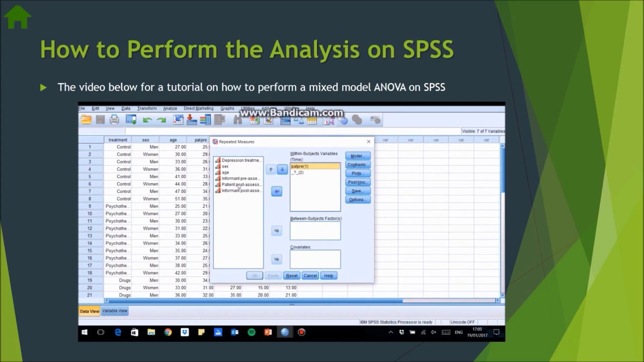 How to Perform a Mixed Model ANOVA in SPSS
