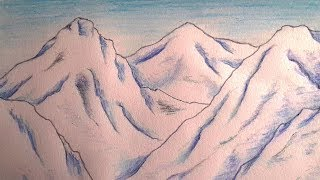 Let's Draw Snow-covered Mountains | Draw with Namgyal
