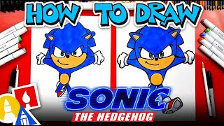 How To Draw Sonic From Sonic The Hedgehog Movie - #stayhome and draw #withme