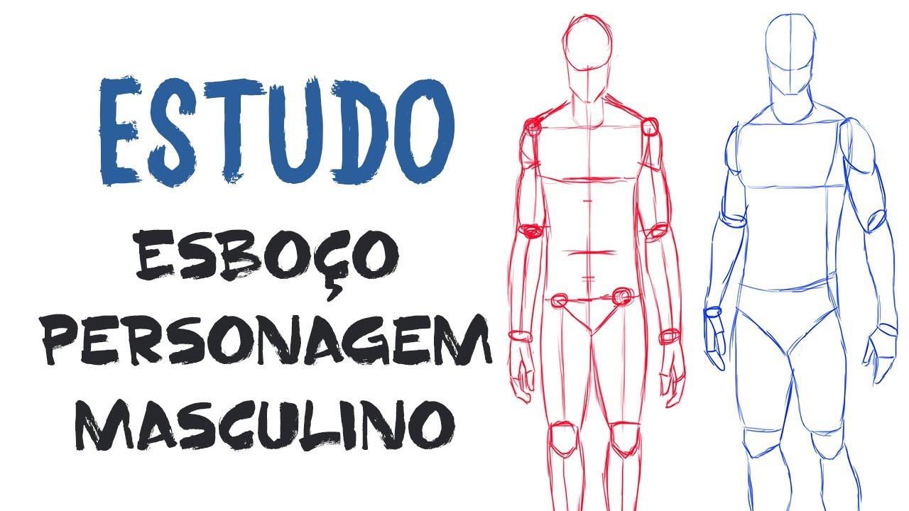 Como Desenhar O Corpo Masculino Estudo De Anatomia Humana Youtube