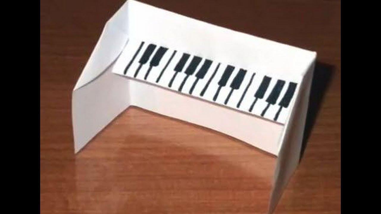Как сделать пианино своими руками из бумаги