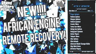 NEW!!! BEST GTA 5 AFRICAN ENGINE MOD MENU!! (REMOTE RECOVERY) | DOWNLOAD | (JTAG/RGH ONLY)