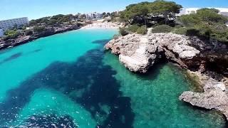 Cala D'or Mallorca drone footage