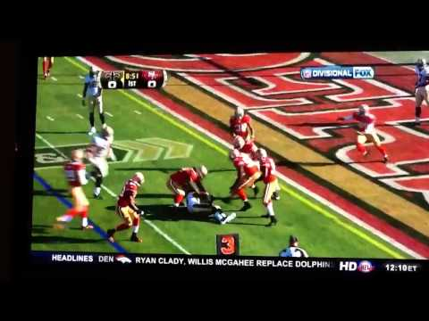 Pierre Thomas gets knocked out by Donte Whitner
