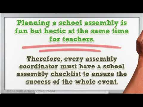Planning a School Assembly Checklist