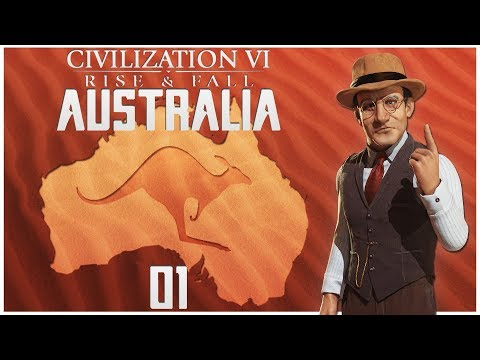 Civilization 6 - Rise and Fall as Australia - Episode 1 ...Destined Cattle Farmers...