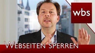 BGH: Access Provider müssen zukünftig Webseiten sperren!   Rechtsanwalt Christian Solmecke