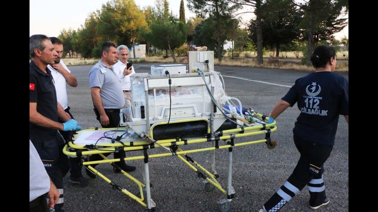 Batman'dan Kronik Rahatsızlığı Olan Bebek Helikopter Ambulansla Adıyaman'a Getirildi