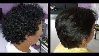 Progressiva ZAP -  Resultado em cabelo curto enrolado.