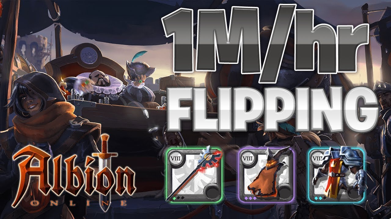 1M+/HOUR Black Market Flipping    Albion Online  (Silver Making Guide)