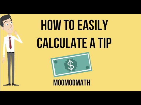 Calculating Percent Tip Without Calculator