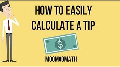 Calculating a 15 percent tip without a calculator