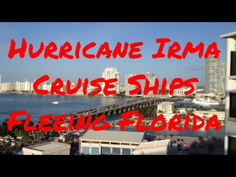 Hurricane Irma Cruise Ships Fleeing Fort Lauderdale Florida! Cruises Cancelled!
