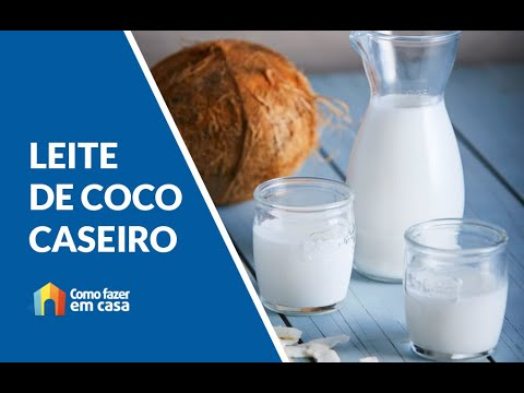 Leite de Coco Caseiro 🥛🥛 - Zero lactose e delicioso - SUPER SIMPLES