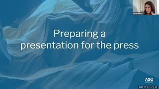 Webinar: Prepare For A Press Event At Fall Meeting 2020