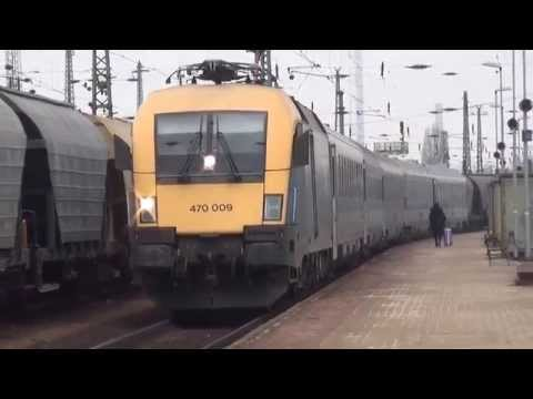 Budapest Ferencváros: regional train from Kelebia, EuroCity Avala from Wien Westbf. to Belgrade