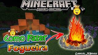 ★Como Fazer Fogueira Minecraft PE 16.+/1.0.4