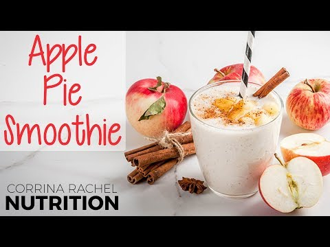 Apple Pie Smoothie Recipe ♥ Guilt-Free, Low Glycemic & Hunger-Satisfying Healthy Breakfast Tips thumbnail