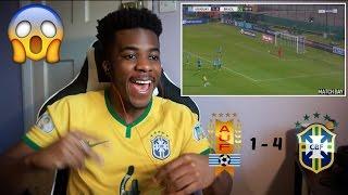 URUGUAY 1 - 4 BRAZIL 🇧🇷⚽️   Reaction