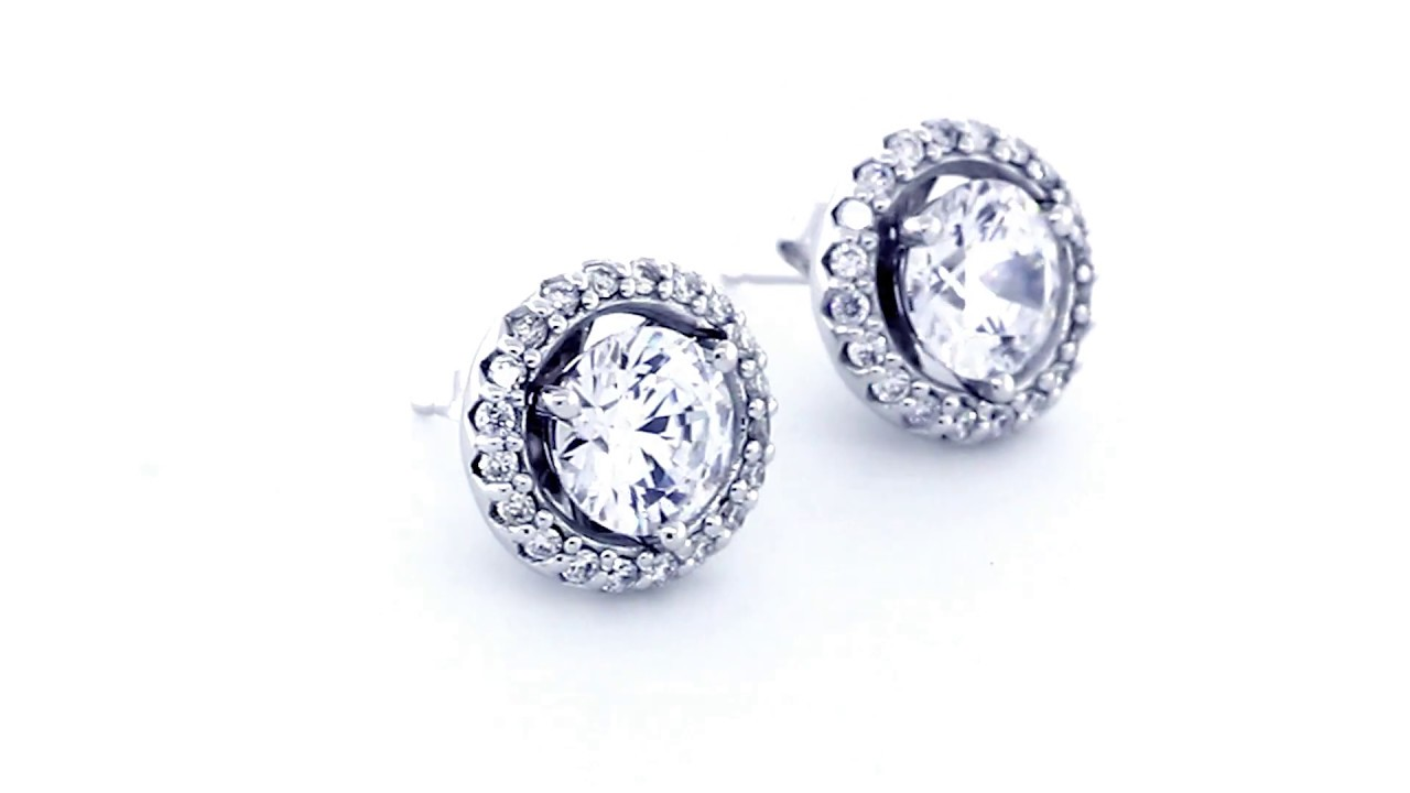gold earrings prong diamond martini stud style white in tw forevermark