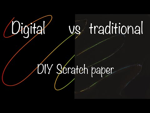 Diy scratch paper | traditional VS digital | how to make rainbow scratch paper two ways