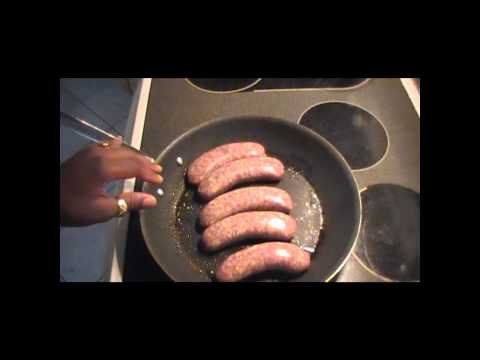 How to cook a simple Italian Sausage meal.