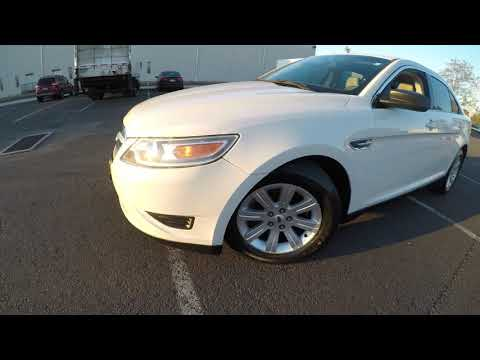 4K Review 2011 Ford Taurus SE White Virtual Test-Drive & Walk-around