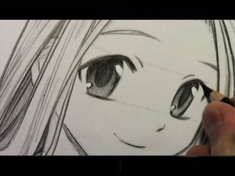 How to draw manga eyes line by line in real time