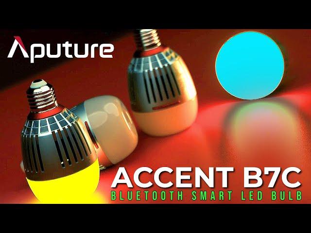 Aputure Accent B7c | Smart LED Light Bulb | B7c Unboxing | RGBWW Bulb