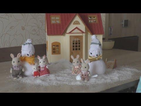 Завалило снегом домик Марии Сильвания Фэмили #Sylvanian Snow