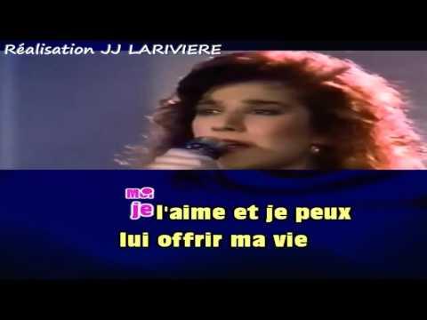 CELINE DION   D'AMOUR OU D'AMITIE I G JJ Karaoké Karaoké - Paroles
