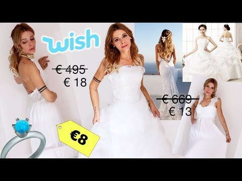 ab34a9ad208b ASPETTATIVA vs REALTA  - TRY-ON HAUL VESTITI DA SPOSA SU WISH A MENO DI 20  EURO !!!