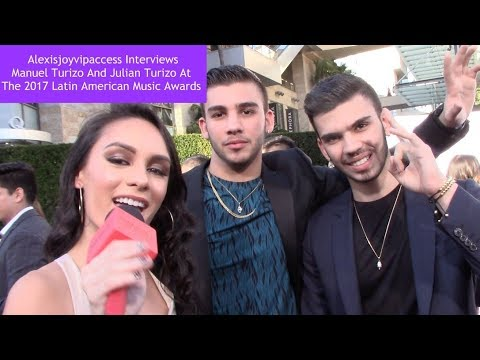 Manuel Turizo And Julian Turizo Interview With Alexisjoyvipaccess - 2017 Latin AMAs