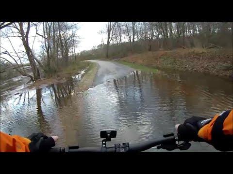 Flooded Bike Trail Neuse River at Falls Lake Dam Raleigh, North Carolina - Jan. 10, 2016