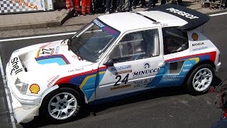 Peugeot 205 turbo 16 group b - wrc 205 t16 rally car sound
