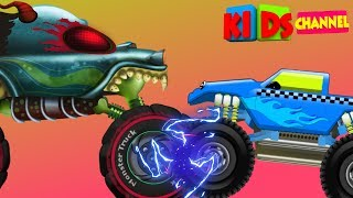 Haunted House Monster Truck | Good Monster Truck | Good v Evil Cartoon Videos by Kids Channel