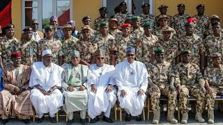 President Buhari During his Visit to Maiduguri Borno State to Declare Open Chief of Army Staff Confe